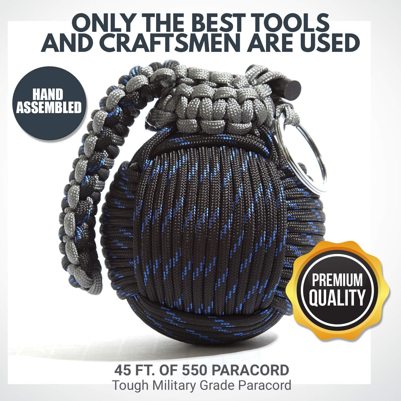 Holtzman's Survival Kit Paracord Grenade The #1 Best 48 Tool Emergency kit (Blue/Black) by Holtzman's Gorilla Survival (Image #7)
