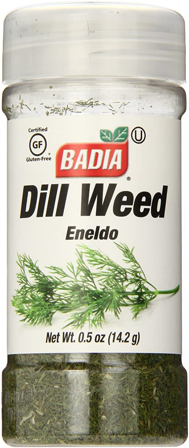 Amazon.com : Badia Dill Weed.5 Ounce (Pack of 12) : Dill Spices And Herbs : Grocery & Gourmet Food