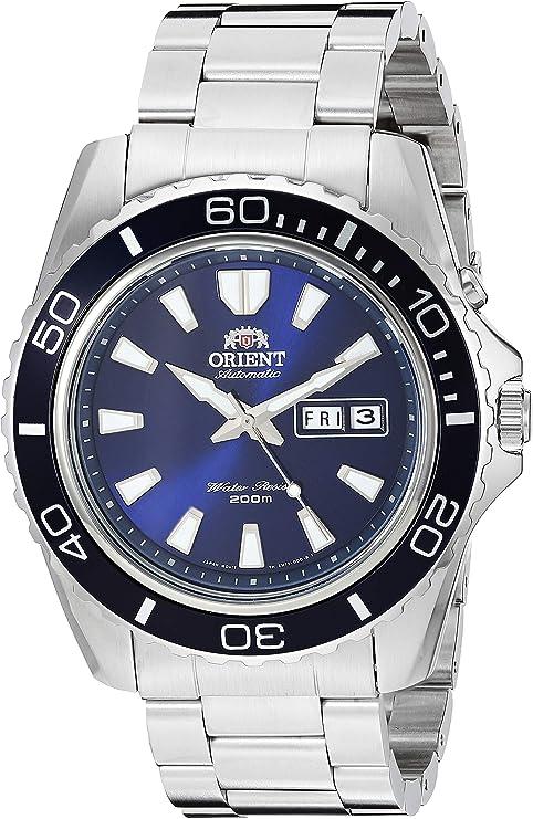 Reloj Orient para Hombres 44mm, pulsera de Acero Inoxidable: Amazon.com.mx: Relojes