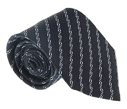 43d1e81735 Ermenegildo Zegna Navy Blue Chain Link Tie for mens at Amazon Men's ...