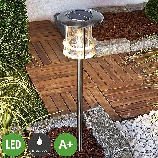 LED Lámparas solares Sumaya (Moderno) en Gris hecho de Acero (6 ...