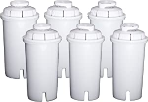Sapphire Replacement Water Filters, for Sapphire, Brita and Pur Pitchers, 6-Pack