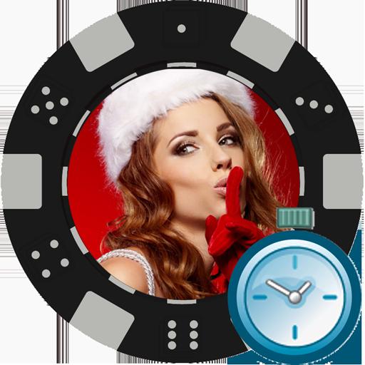 Texas Holdem Blind Timer - Easy Poker Timer - Texas Holdem Tournament Clock - Blind Timer - Holiday Girl Theme