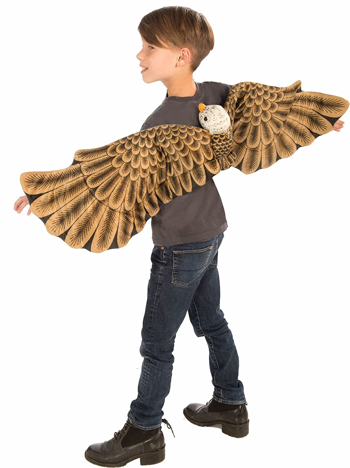 Amazon.com: Forum Plush Bald Eagle Child Wings Costume, Brown: Toys U0026 Games