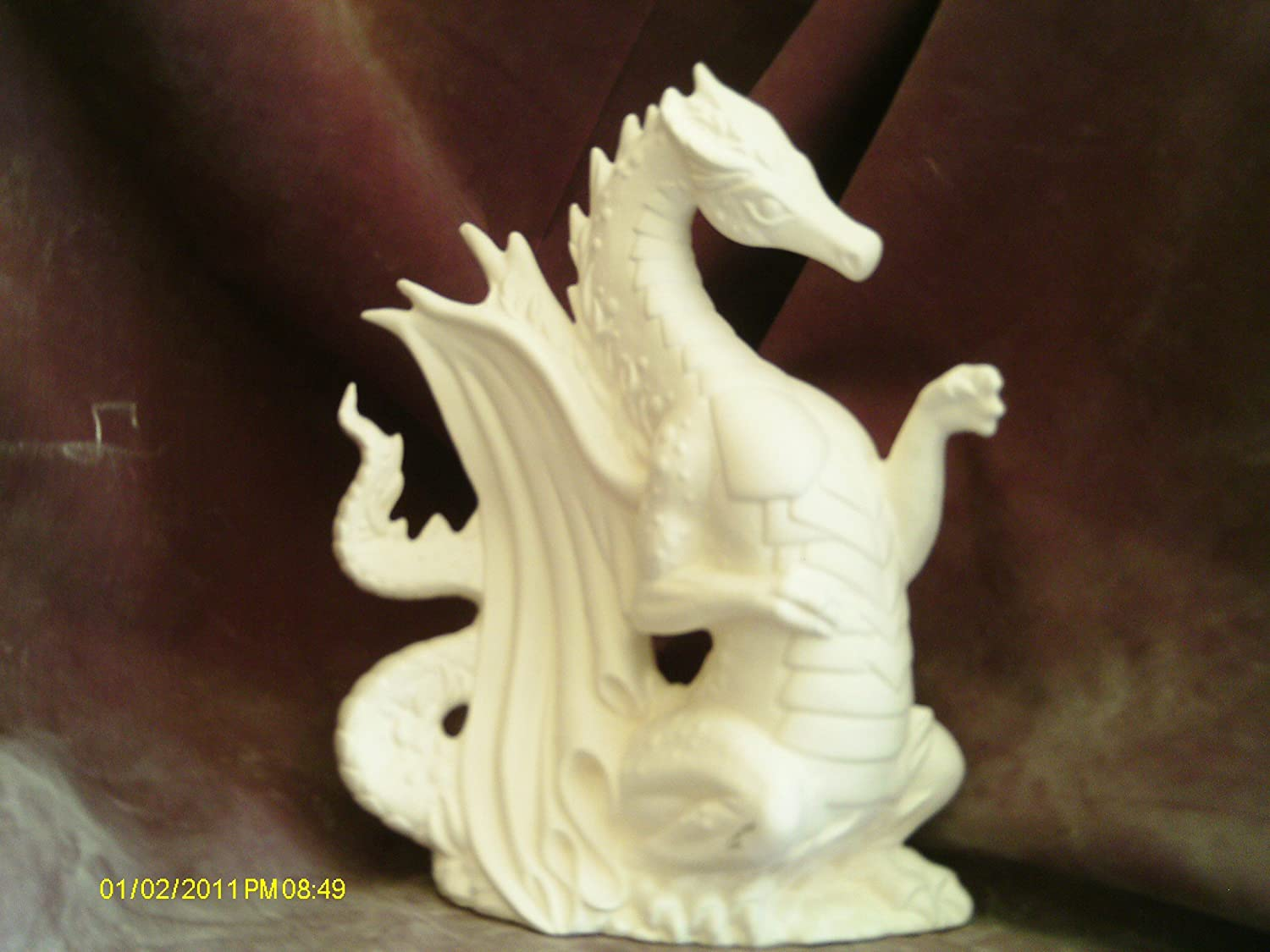 Shop amazon ceramics pottery ready to paint ceramics fire dragon 9 x 7 ceramic bisque dailygadgetfo Choice Image