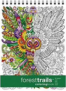 Forest Trails Coloring Book (8.62 x 11.75 inches)