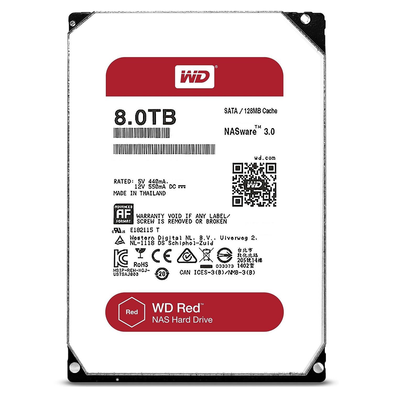 Western Digital WD Red WD80EFZX - 8TB 5400rpm 128MB 3.5zoll SATA600