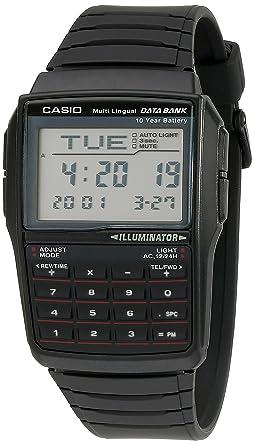 7ff599123 Image Unavailable. Casio DBC-32-1A Black Classic Databank Unisex Digital Calculator  Watch