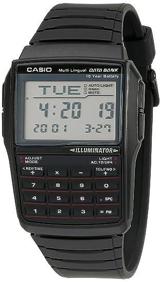 457cbed58126 Casio DBC32-1A reloj digital negro con banco de datos para hombre ...