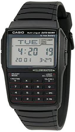 cd24df25d5a Image Unavailable. Image not available for. Color  Casio Men s DBC32-1A  Data Bank Black Digital Watch