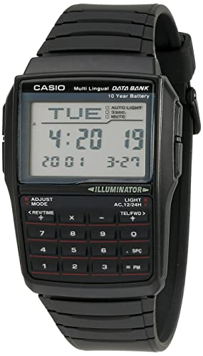 Casio Men's DBC32-1A Data Bank Black Calculator Watch