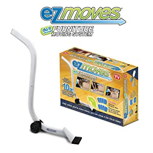 EZ Moves Furniture Moving Pads System (1 Lifter Tool & 8 Sliders) As Seen on TV