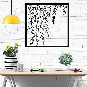 "Metal Wall Art, Branch Wall Art, Metal Wall Decor, Metal Plant Art, Home Decoration, Wall Hangings (28""W x 28""H / 71x71 cm)"