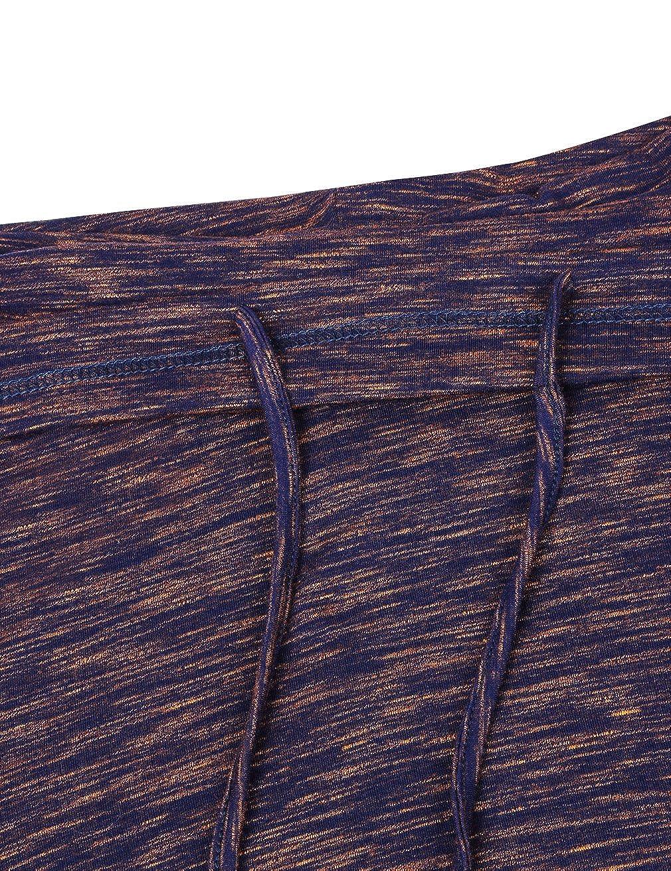 Faddare Womens Cofy Cowl Neck Space Dye Activewear Sweatshirt with Pockets