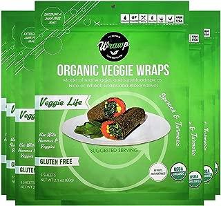 product image for WrawP Mini Veggie Life 8 Pack Raw Organic Mini Veggie Wraps Bulk   Wheat-Free Gluten Free Paleo Non-GMO Vegan Friendly Full Value Case Made in the USA