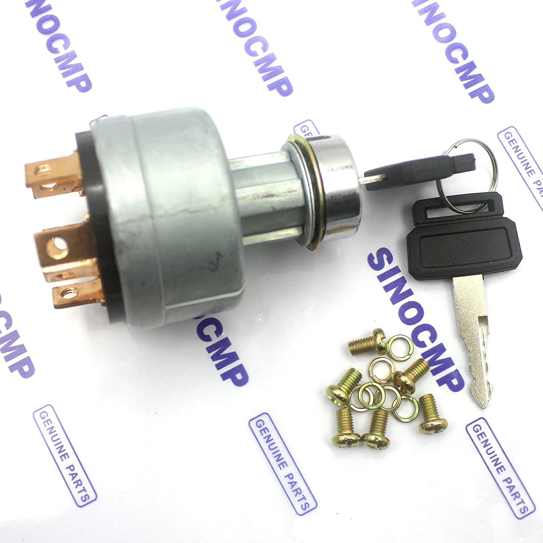 Sinocmp Lgnition switch con 2/Kys per Daewoo Doosan DH220/ /5/DH220/ /7/Tarter interruttore di accensione a 3/mesi di garanzia