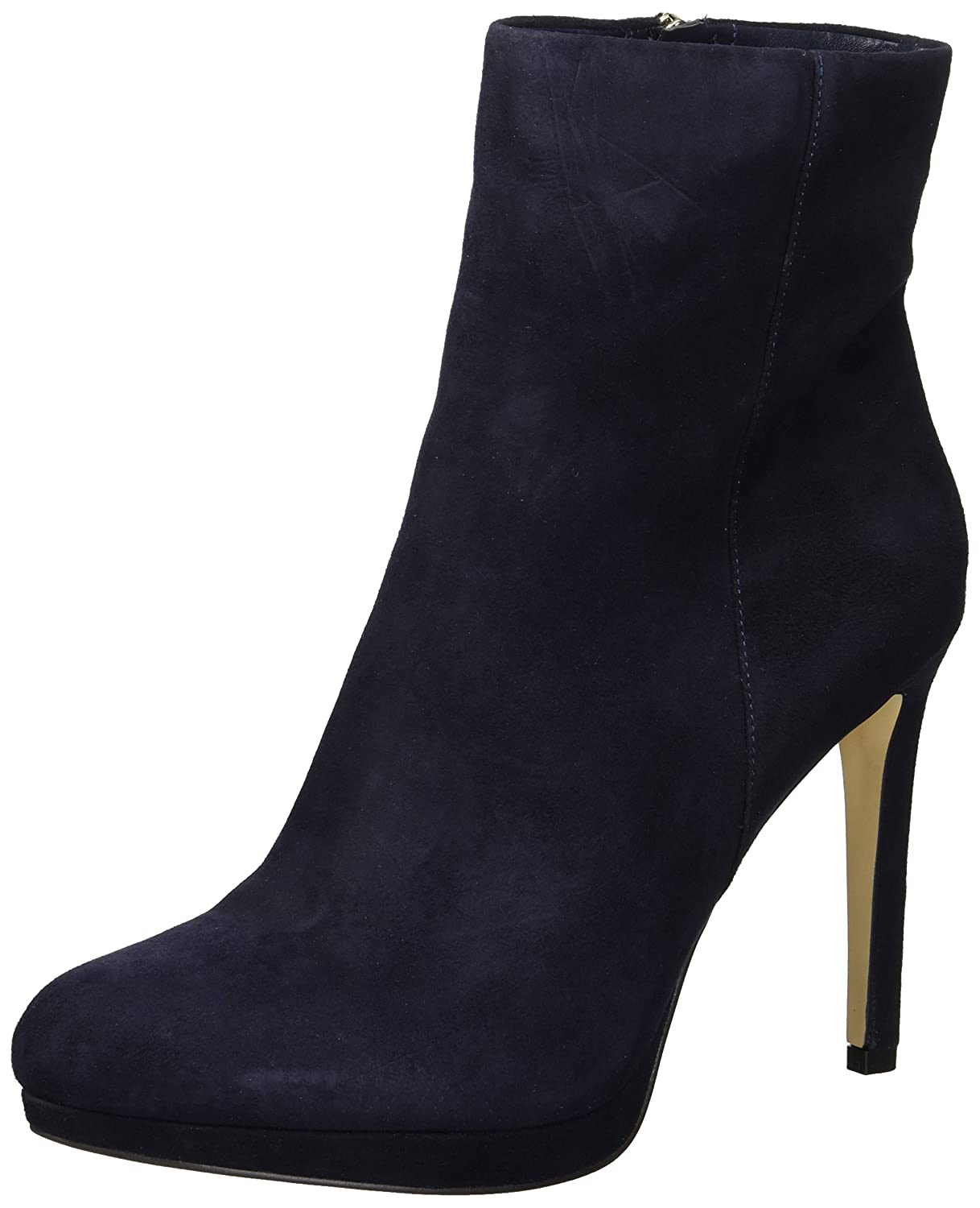 Nine West Women's Quanette Suede Ankle Boot B077W2BN3T 5.5 B(M) US|Navy