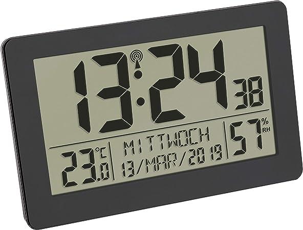 TFA Dostmann - Reloj Digital de Pared con Radio (Pantalla Grande ...