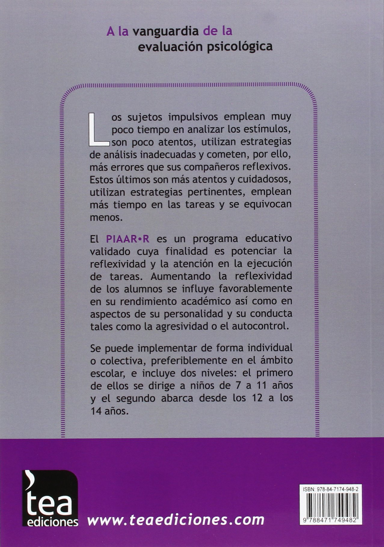 PIAAR-R. Programa de Intervención educativa para aumentar la atención y la reflexividad: 9788471749482: Amazon.com: Books