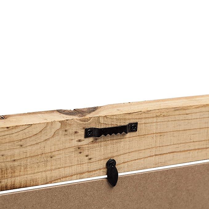 Marco de madera flotante de perfil de 5 cm de ancho madera rústica marco de fotos de 4 x 6 (10 x 15 cm)...: Amazon.es: Hogar