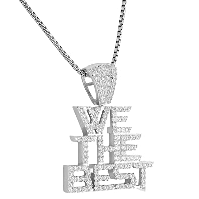 We the best hip hop pendant custom iced out lab diamonds steel chain we the best hip hop pendant custom iced out lab diamonds steel chain dj khaled rapper aloadofball