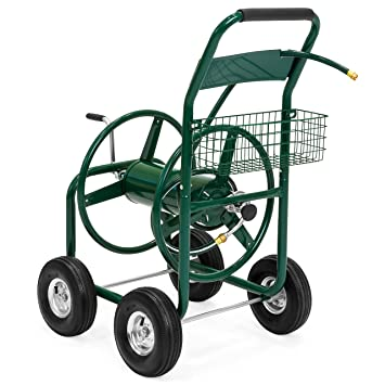 garden hose reel cart. Best Choice Products 300ft Water Hose Reel Cart W/ Basket For Outdoor Garden, Heavy Garden