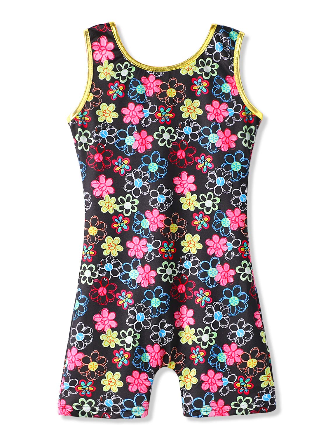 Gymnastics Leotards with Shorts for Girls Kids 7/8 Size 7-8 years old Floral Print by HOZIY