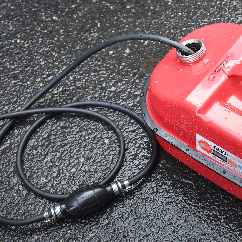 Tusenpy 8mm Handpumpe Umf/üllpumpe,Handpumpe Kraftstoffpumpe /öl Wasser Notpumpe Dieselpumpe f/ür Gas fl/üssiges Wasser Schwarz Benzin /Öl