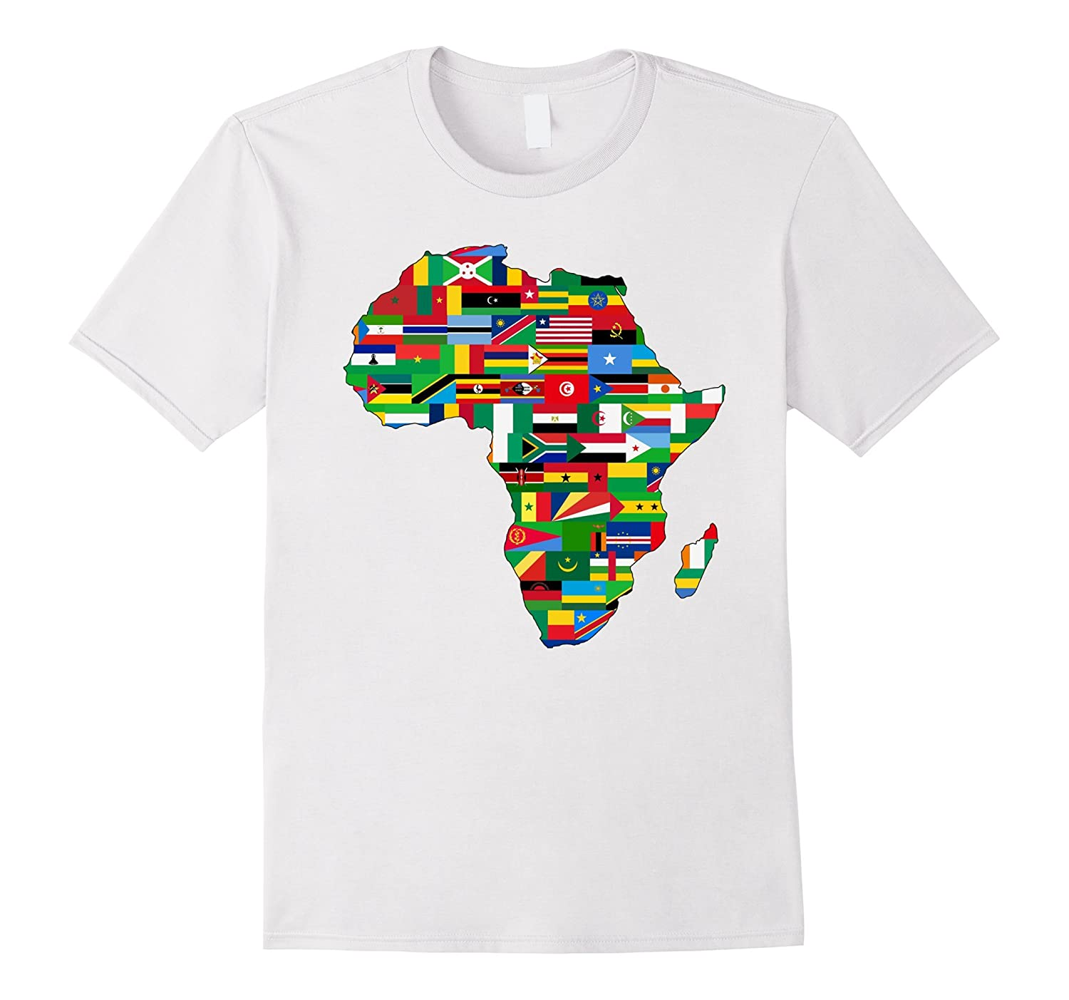 Africa Countries Flag Map Shirt African American Party Pride-Art