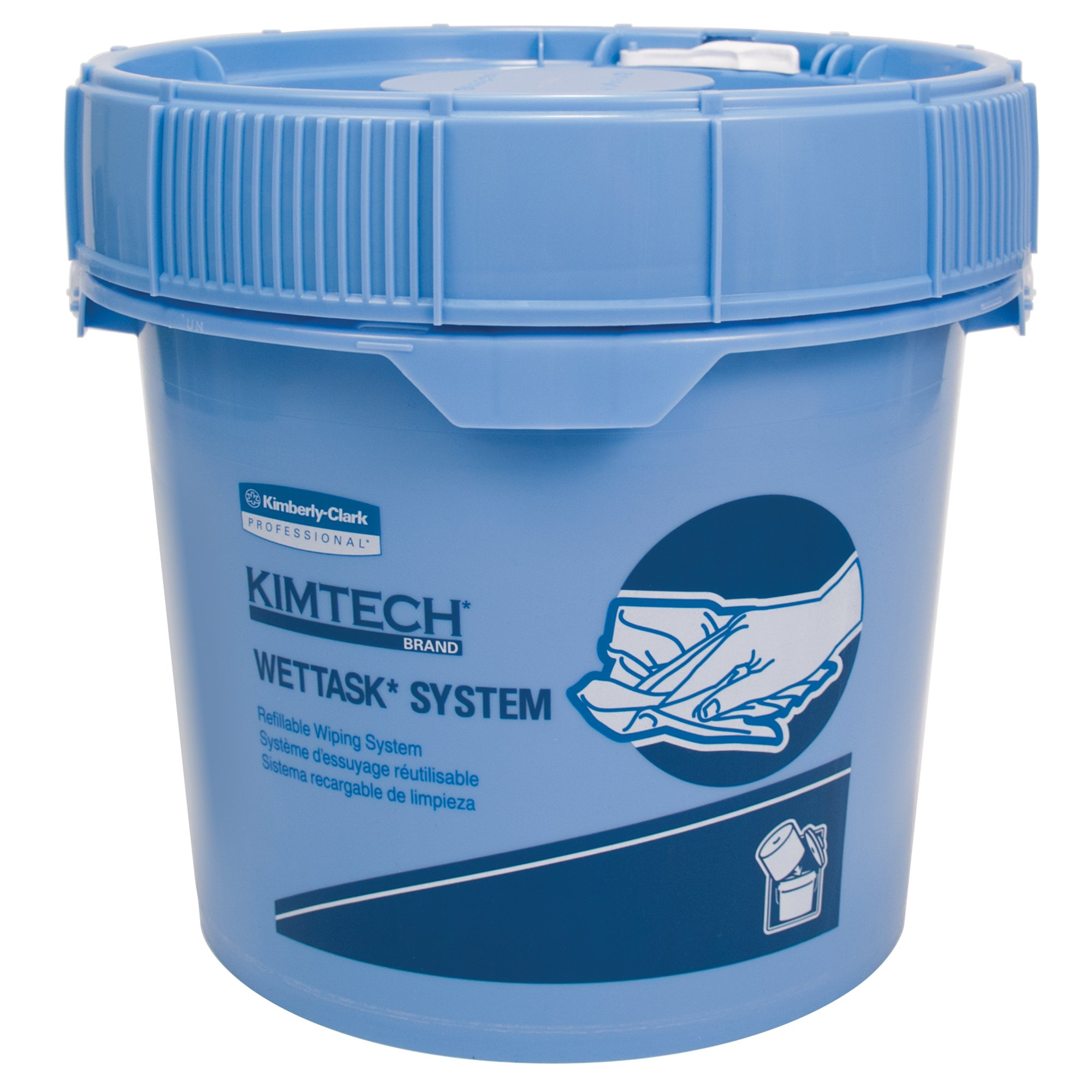 Kimtech Prep Wipers for the WetTask Wiping System Bucket (09361), Large Format Hygienic Enclosed System, 3.5 Gallon, 2 Buckets / Case