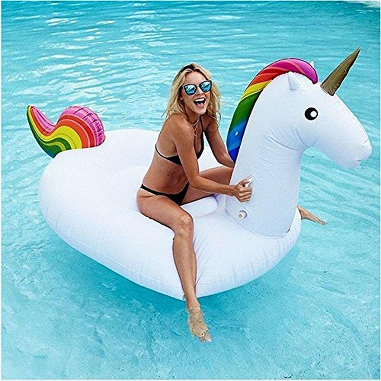 Colchoneta Hinchable - Piscina - Colchón De Aire - Flotador Ideal para Vacaciones y Vistosa (Unicornio): Amazon.es: Juguetes y juegos