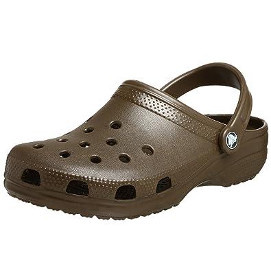 Crocs Men's Classic Clogs, CHOCOLATE, ...