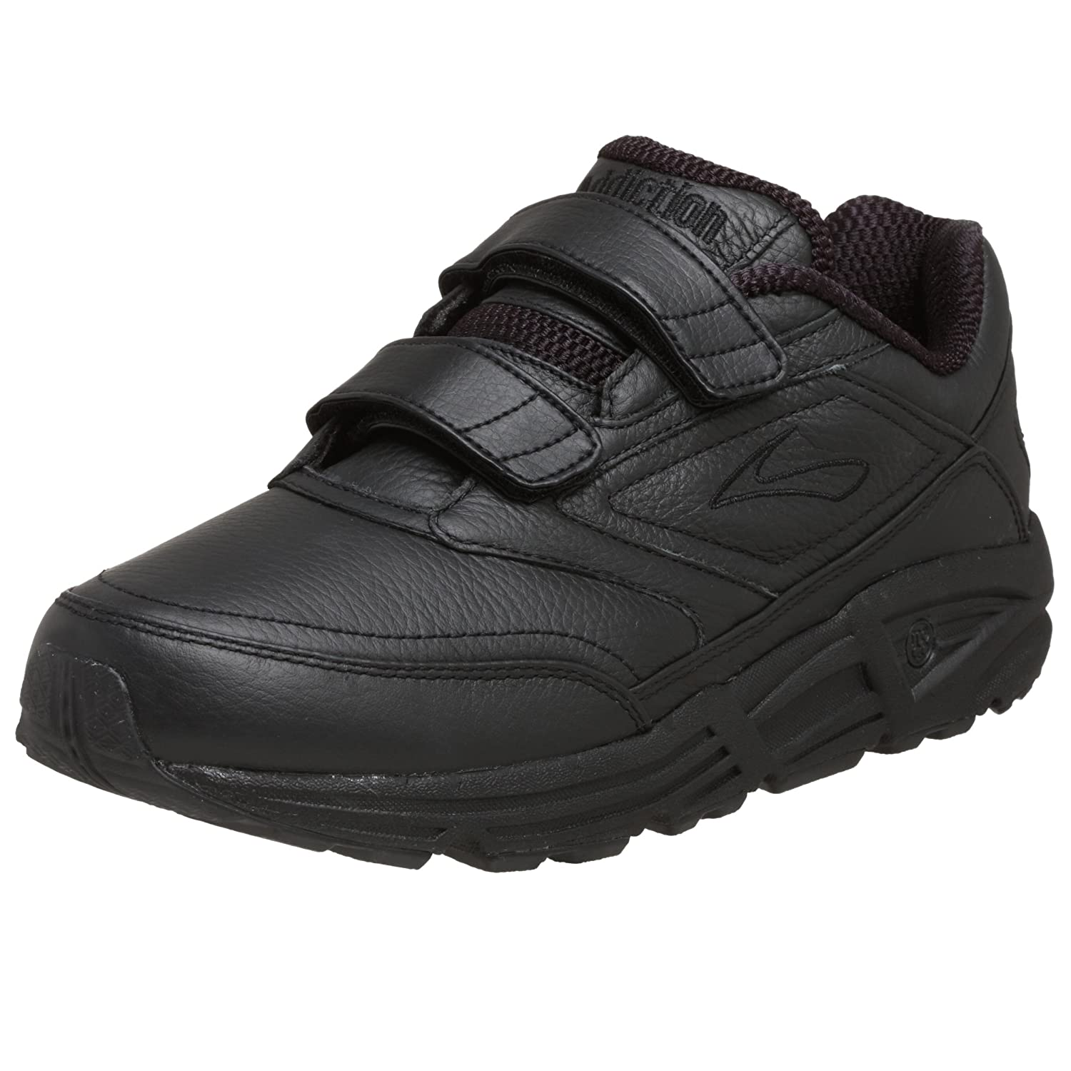 Brooks Addiction Walker V-Strap M - Zapatillas de correr de cuero hombre 47 (13UK)|Negro (Black 001)