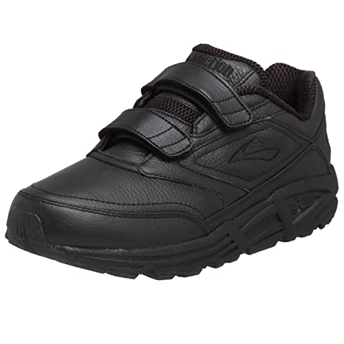 Brooks Addiction Walker V-Strap M - Zapatillas de correr de cuero hombre, color negro, 42 1/2: Amazon.es: Zapatos y complementos