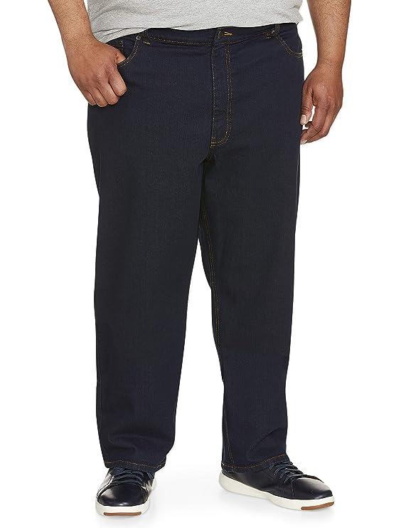 Amazon Essentials Men's Big & Tall Relaxed-Fit Stretch Jean, Rinse 52W x 30L