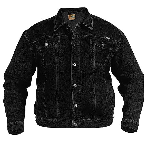 Chaqueta Duke de mezclilla color negro para hombre, tamaño XL