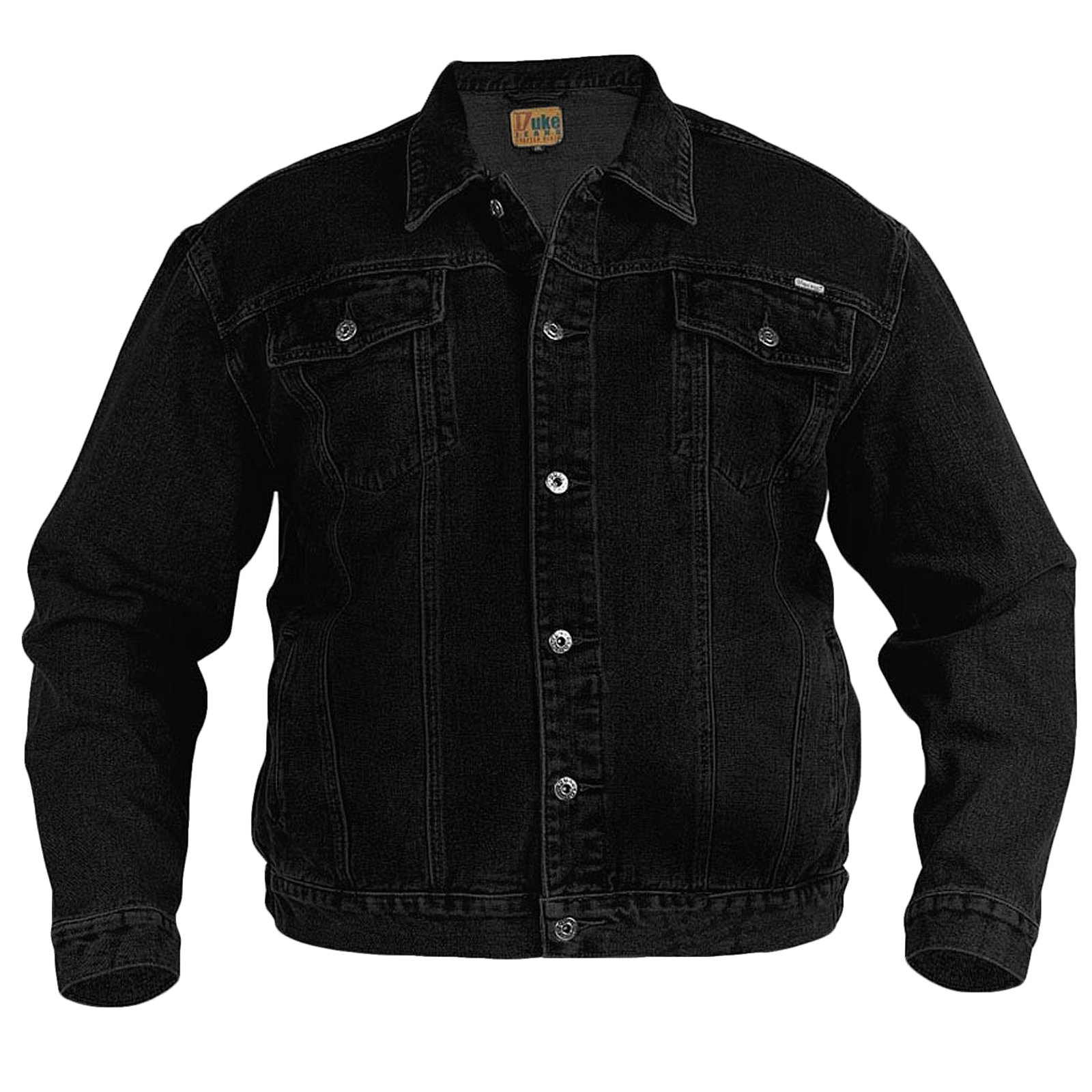 Duke D555 Big Tall Size Denim Jacket - Black - 3XL by Duke