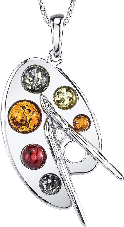 Layered Copper Painters Palette Pendant /& Earrings Vintage Artist Necklace