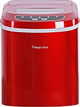Magic Chef 27 Lbs Portable Red Ice Maker
