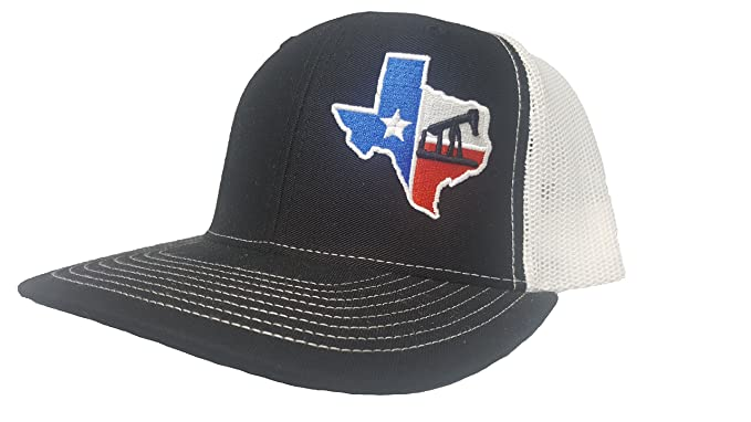 finest selection 61cb3 be8f7 Richardson 3D Puff Texas Flag RIG Drilling Oil Field Hat Cap Snapback  Adjustable Adult Unisex at Amazon Men s Clothing store