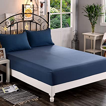 California King Wrinkle Resistant Aqua Luxury /& Softest 1500 Thread Count Egyptian Quality Smart Pocket Premium Hotel Quality Extra Deep Pocket 18-21inch Single Fitted Sheet for High Mattress