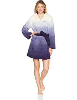 Tommy Hilfiger Womens Plush Soft Bathrobe Warm Textured Sleep Lounge Pajama Robe
