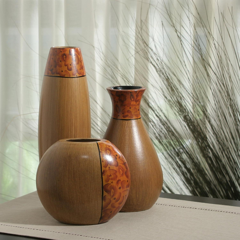 Amazon hosley burlwood vases set of 3 home kitchen reviewsmspy
