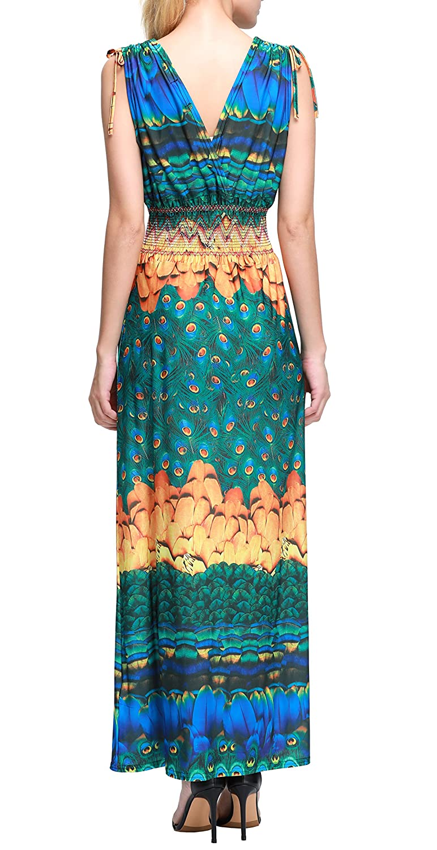 Wantdo Women\'s Beach Dress Bohemian Maxi Dress Plus Size at Amazon ...