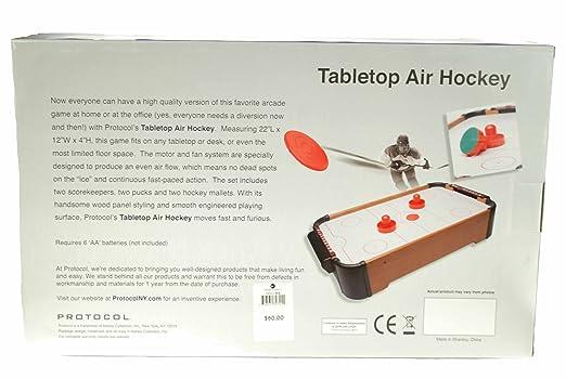 Amazon.com : Protocol Tabletop Air Hockey Game : Air Hockey Equipment :  Sports U0026 Outdoors