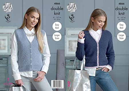 0711afe87 Image Unavailable. Image not available for. Colour  King Cole 4866 Knitting  Pattern Womens Cardigan ...