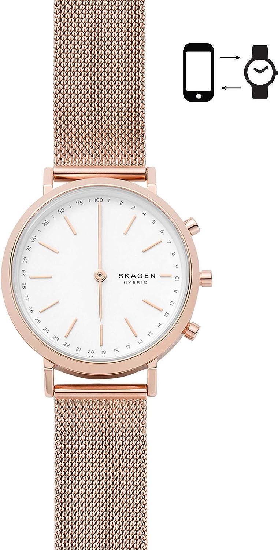 Fossil Women s Hald Hybrid Smartwatch Quartz Watch with Stainless-Steel Strap, Rose Gold, 16 Model SKT1411