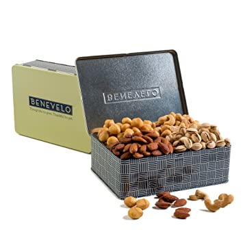 Gourmet Salted Nut Assortment Gift Set - Roasted Salted Macadamias,  Cashews, Pistachios,