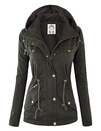 Womens Military Anorak Safari Hoodie Jacket at Amazon Women's ...