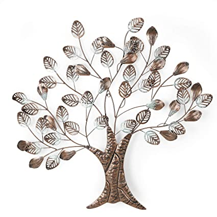 Amazon.com: Adeco Tree Branch Leaves Metal Wall Decor Home ...